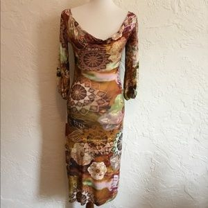 Dresses & Skirts - Jersey cowl neck dress. Size medium.
